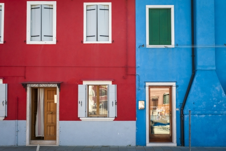 Colorful houses in Burano, Italy, near Venice photo