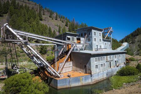 yankee: Old dredge on the Yankee Fork River in Idaho