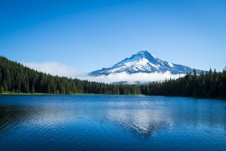 Mt. Hood seen from Trillium Lake, Oregon