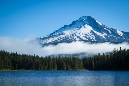 Mt  Hood seen from Trillium Lake, Oregon