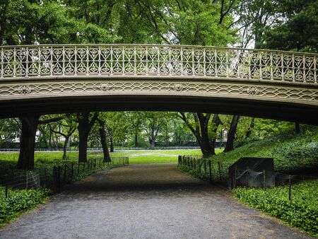 Wrought iron bridge in Central Park, New York City