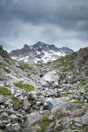 oregon cascades: Storm clouds above Mt. hood in Oregon Cascades