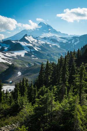 northwest: Ptarmigan Ridge on slopes of snowcapped Mount Baker, Washington state Cascades