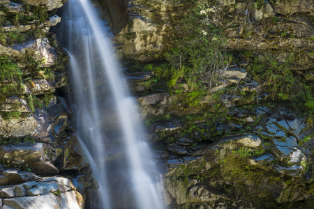 cascade range: Nooksack waterfalls in the cascade range of Washington state Stock Photo