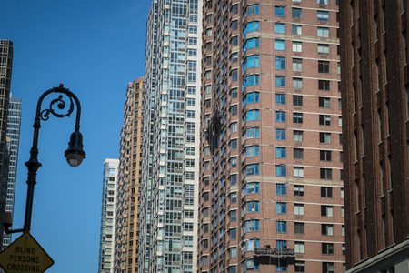 multifamily: Tall modern apartment buildings in New York City