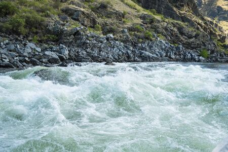 idaho: Rough and wild Whitewater rapids in Hells Canyon, Idaho Stock Photo