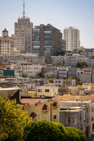 multifamily: Skyline of San Francisco, California, with apartments in foreground