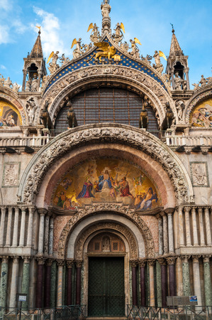 entranceway: Entranceway to St. Marks Cathedral in Venice, Italy