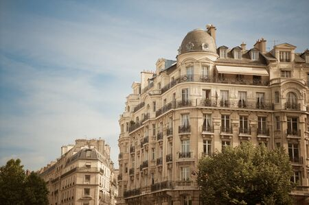 multifamily: Old apartment buildings in Paris France Stock Photo