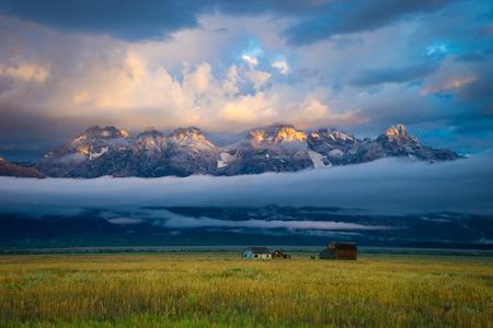 Small farmhouse in grand Teton national Park, Wyoming