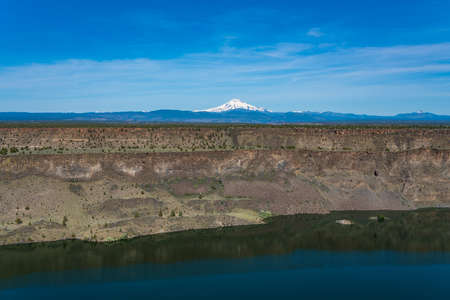 View of Lake Billy reservoir in the high desert of Central Oregon