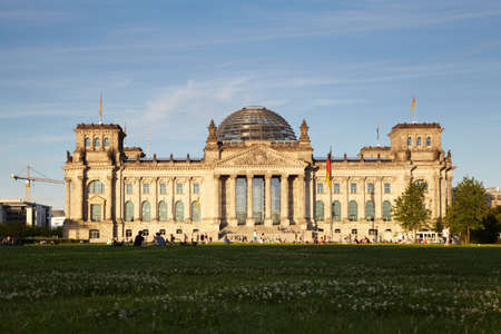 The Reichstag building, Berlin, Germany The dedication to the German people, meaning To the German People or For the German people