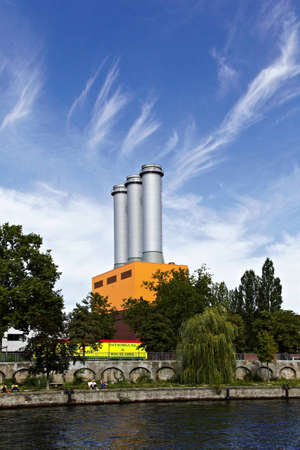 orte: kraftwerk charlottenburg - Impressiones from Berlin along the Spree, Germany  Editorial