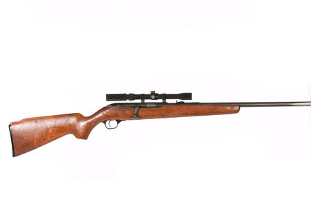 gun shell: Hunting Rifle on a white background