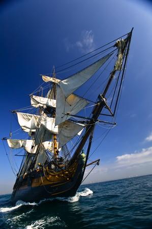 Tall Ship under sail  Stok Fotoğraf