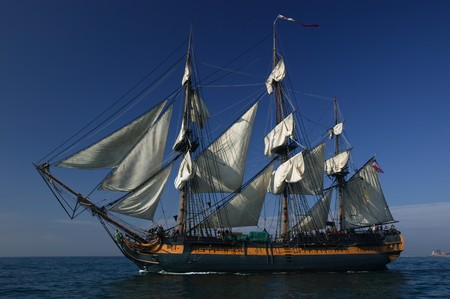 Tall Ship under sail  Stock Photo - 3950790