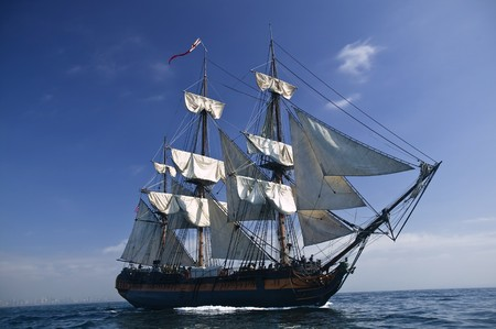 Tall Ship under sail  Stock Photo