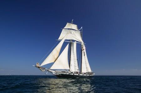 unsure: Tall Ship under sail  Stock Photo