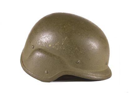 bullet proof: Bullet proof helmet on a white background Stock Photo