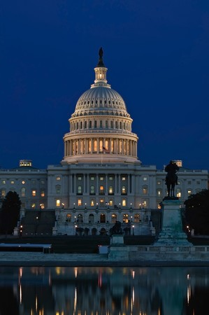 lawmaking: Capitol Building at Sunset