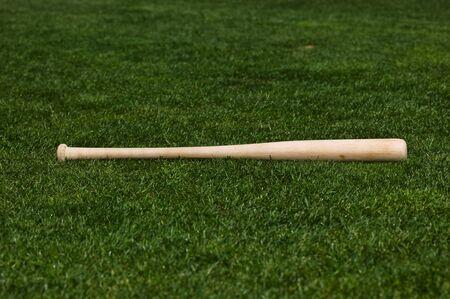 Baseball on the green grass of a ball field Stok Fotoğraf - 3951245