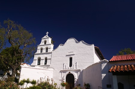 The historic mission alcala located in San Diego Stok Fotoğraf
