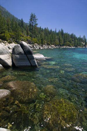 Lake Tahoe Shoreline Stok Fotoğraf