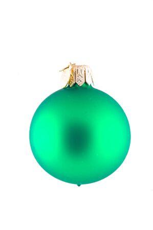 Isolated Green Christmas Ball photo