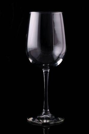 Isolated wine glass on black background Stok Fotoğraf