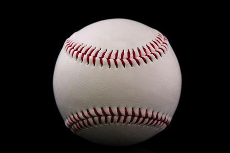 Baseball isolated on black background Stok Fotoğraf