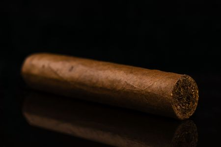 Cigar isolated on black