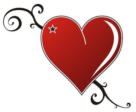 yıldız: Kalp Aşk Çizim