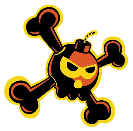 Skull bomb Stock Vector - 16918657
