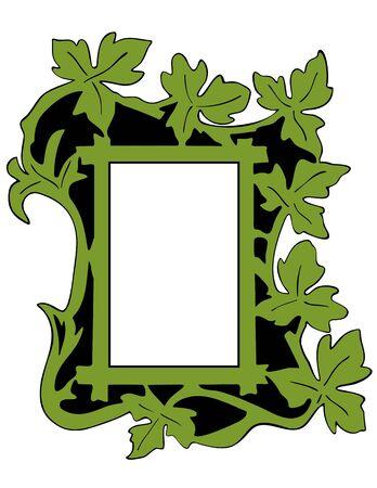 mirror frame: Leaf Photo Frame Illustration