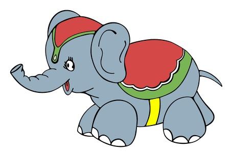 Circus Elephant Stock Vector - 17030148