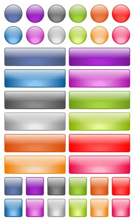 shiny buttons: Web Buttons Stock Photo