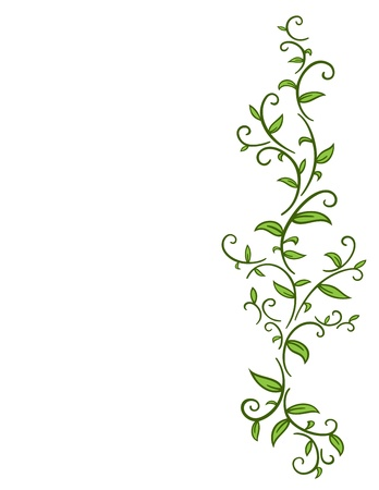 tendril: Tribal Vine with Leaves
