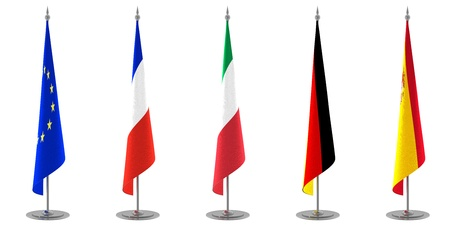 Table Flags Collection Europe