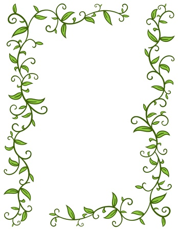 Leaves Frame Stock Vector - 17290555