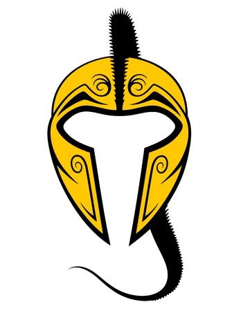 Spartan Helmet Stock Vector - 17290456
