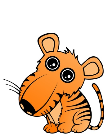 Baby Tiger Illustration