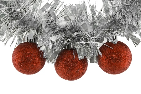 Christmas balls on garland