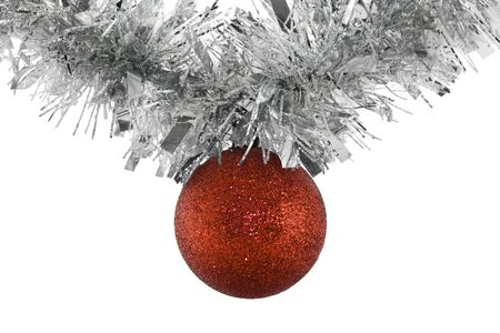 Hanging Christmas Ball Stock Photo