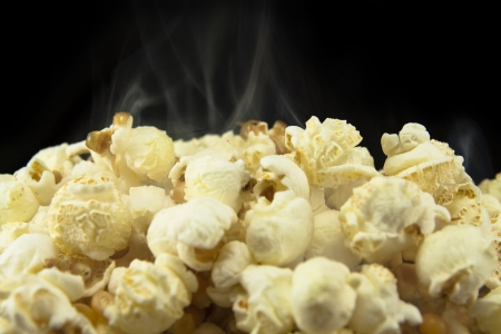 Freshly made popcorn Stock Photo
