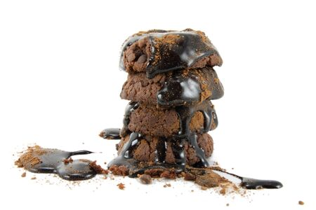 Chocolate cookies and topping Stock Photo