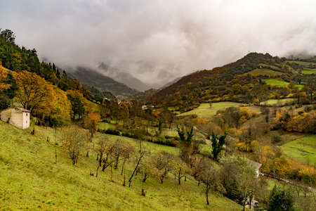 St Christine of Lena is a Pre Romanesque church in the province of Asturias Spain with beautiful mountains and valleys all around.