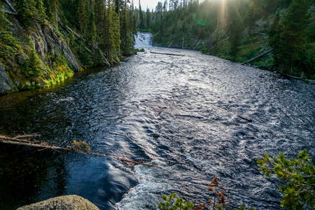The Lewis River in Yellowstone National Park Wyoming. Banco de Imagens