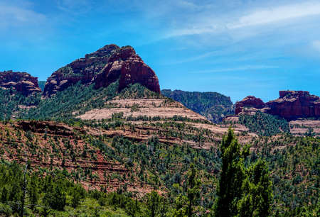 Just some of the magnificent scenery you will see as you make your way around Sedona Arizona. Stock Photo