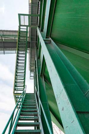 conveyors: Limestone quarry with modern crushing and screening equipment.