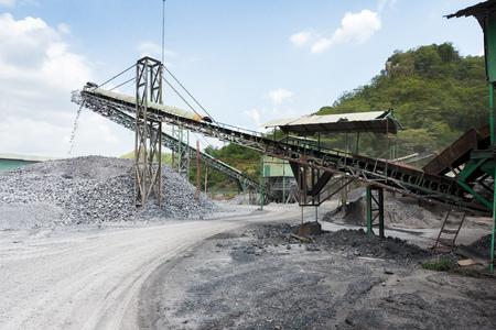 equipment: Limestone quarry with modern crushing and screening equipment.